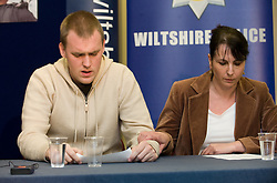 © under license to London News Pictures.  21/03/2011. Kevin Reap, The boyfrind of missing Sian O'Callaghan and Elaine O'Callghan, Sian's Mother at a press conference at Swindon police station today following the disaperance of the 22-year old on friday. Photo credit should read: LNP