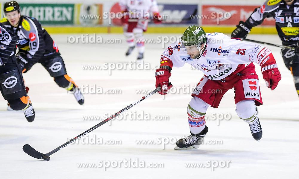 20.12.2015, Messestadion, Dornbirn, AUT, EBEL, Dornbirner Eishockey Club vs HCB Suedtirol, 33. Runde, im Bild Joel Broda, (HCB Suedtirol, #26)// during the Erste Bank Icehockey League 33th round match between Dornbirner Eishockey Club and HCB Suedtirol at the Messestadion in Dornbirn, Austria on 2015/12/20, EXPA Pictures © 2015, PhotoCredit: EXPA/ Peter Rinderer