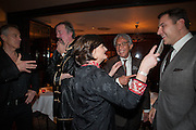 TONY BLAIR; STEPHEN FRY; CHERIE BLAIR; SIR DAVID TANG; DAVID WALLIAMS, Chinese New Year dinner given by Sir David Tang. China Tang. Park Lane. London. 4 February 2013.