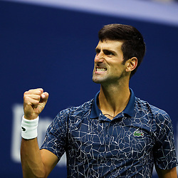 Novak Djokovic of Serbia during the men's final of the 2018 US Open Tennis Championships on September 9, 2018 in New York, United States. (Photo by Marek Janikowski/Icon Sport)