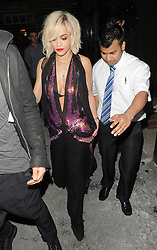 Rita Ora stops at McDonald's on her way home after Prince gig at the KOKO club in London, UK. 16/02/2014 <br />BYLINE MUST READ : GOTCHAIMAGES.COM<br /><br />Copyright by © Gotcha Images Ltd. All rights reserved.<br />Usage of this image is conditional upon the acceptance <br />of Gotcha Images Ltd, terms and conditions available at<br />www.gotchaimages.com