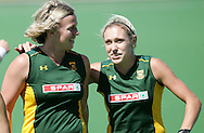 Tarryn BRIGHT and Shelley RUSSELL during the BDO Women's Champions Challenge 1 match between South Africa and Spain held at the Hartleyvale Stadium in Cape Town, South Africa on the 17 October 2009 ..Photo by RG/www.sportzpics.net.+27 21 (0) 21 785 6814
