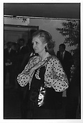 Lady Glenconner at Grovener House at the Antiques Fair 11/06/86  ONE TIME USE ONLY - DO NOT ARCHIVE  © Copyright Photograph by Dafydd Jones 66 Stockwell Park Rd. London SW9 0DA Tel 020 7733 0108 www.dafjones.com