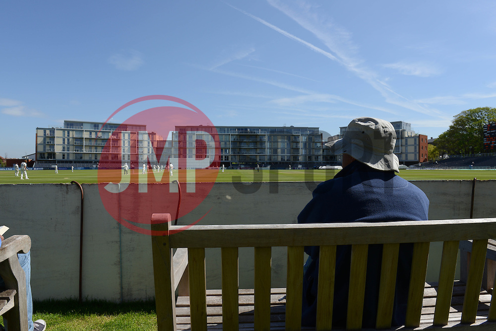 A fan at the County Cricket Ground - Photo mandatory by-line: Dougie Allward/JMP - Mobile: 07966 386802 - 21/05/2015 - SPORT - Cricket - Bristol - County Ground - Gloucestershire v Kent - LV=County Cricket