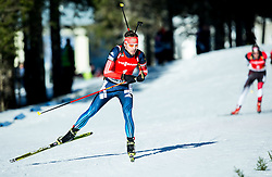 SHIPULIN Anton (RUS) competes during Men 12,5 km Pursuit at day 3 of IBU Biathlon World Cup 2014/2015 Pokljuka, on December 20, 2014 in Rudno polje, Pokljuka, Slovenia. Photo by Vid Ponikvar / Sportida