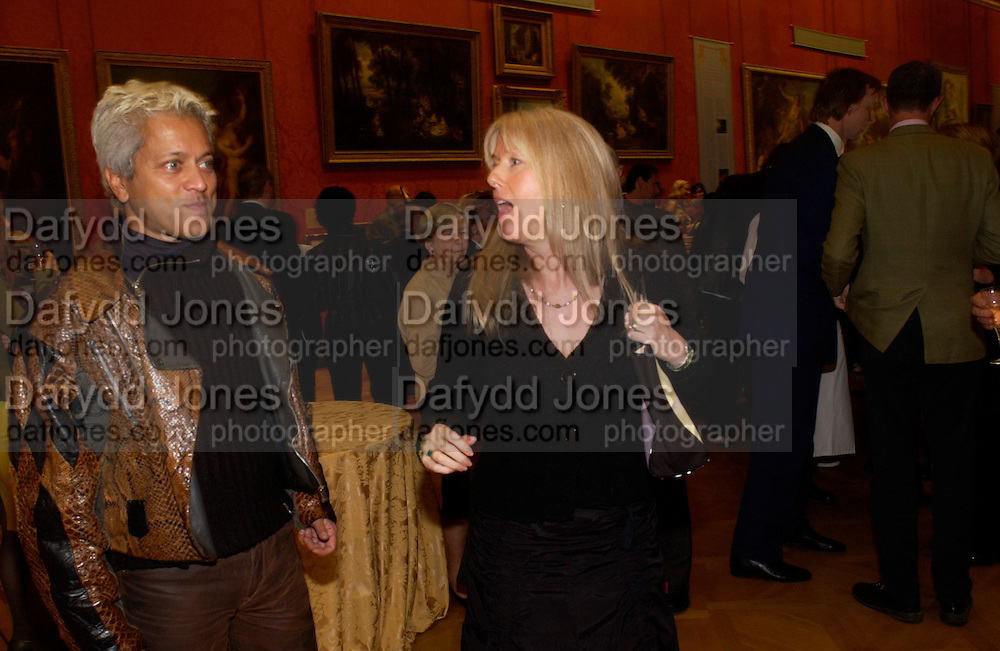 Andy Pluto and Suzy Lewis, ( Mrs. John Lewis )Opening by Vivienne Westwood of Boucher: Seductive Visions.  The Wallace Collection. Manchester Sq. London. 29 September 2004. SUPPLIED FOR ONE-TIME USE ONLY-DO NOT ARCHIVE. © Copyright Photograph by Dafydd Jones 66 Stockwell Park Rd. London SW9 0DA Tel 020 7733 0108 www.dafjones.com