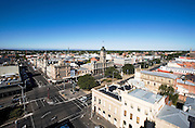 Panoramic view of central Ballarat from old Post Office tower