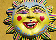 Ceramic of sun smiling face Oaxaca, Mexico