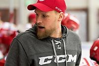 2018-12-30 | Ljungby, Sweden: Troja-Ljungby equipment manager Marcus Andersson during the game between Troja Ljungby and Kristianstad IK at Ljungby Arena ( Photo by: Fredrik Sten | Swe Press Photo )<br /> <br /> Keywords: Icehockey, Ljungby, HockeyEttan, Troja Ljungby, Kristianstad IK, Ljungby Arena, AllEttan Södra