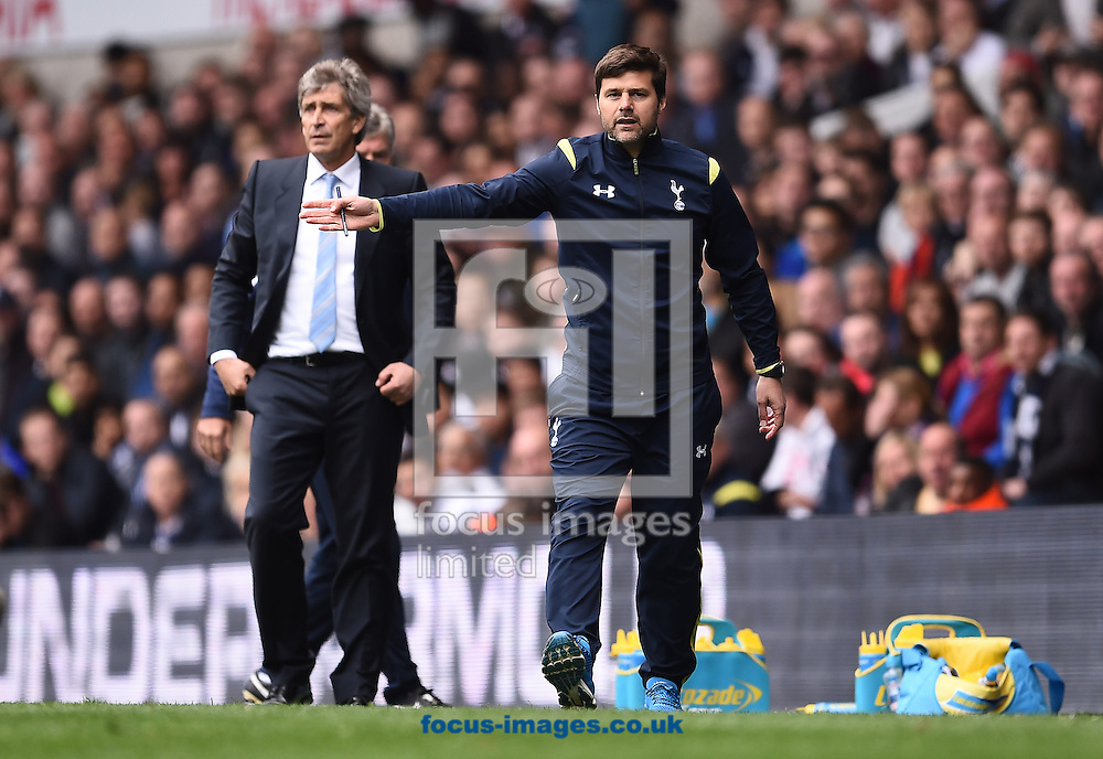 Manager of Tottenham Hotspur Mauricio Pochettino during the Barclays Premier League match against Manchester City at White Hart Lane, London<br /> Picture by Andrew Timms/Focus Images Ltd +44 7917 236526<br /> 03/05/2015