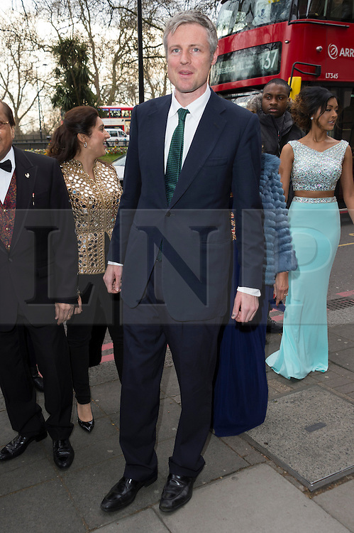 © Licensed to London News Pictures. 08/04/2016. ZAC GOLDSMITH attends The Asian Awards celebrating the best in Asian achievement across business, sport, philanthropy, and popular arts and culture. London, UK. Photo credit: Ray Tang/LNP