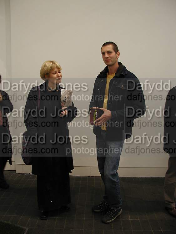 Tim Woolford and his sister Lucie Woolford.  Jerwood Sculpture Prize at Jerwood Space<br />