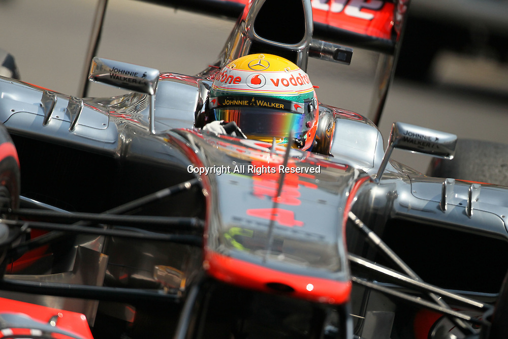 26.05.2012. Monaco, Monote Carlo. Lewis Hamilton during the final practice session at Monaco on qualification day.