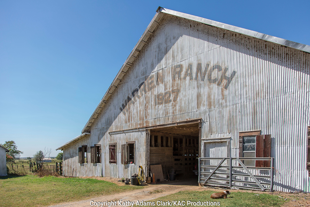Warren Ranch barn on the Katy Prairie Conservancy in Katy, Texas.