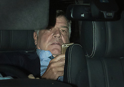"© Licensed to London News Pictures. 27/09/2016. London, UK. Sam Allardyce is seen leaving Wembley Stadium after allegedly offering to resign. The new England football manager is facing allegations from a newspaper that he used his job to negotiate a £400,000 deal and also offered advice on how to ""get around"" rules on player transfers. Photo credit: Peter Macdiarmid/LNP"