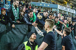 Vidmar Nejc of NK Olimpija Ljubljana and NK Olimpija celebrate after a football game between NK Olimpija Ljubljana and NK Maribor in Final Round (18/19)  of Pokal Slovenije 2018/19, on 30th of May, 2014 in Arena Z'dezele, Ljubljana, Slovenia. Photo by Matic Ritonja / Sportida