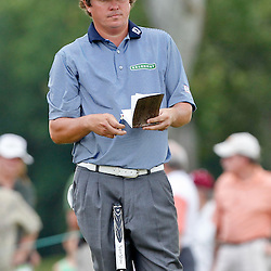 Apr 29, 2012; Avondale, LA, USA; Jason Dufner on the ninth hole during the final round of the Zurich Classic of New Orleans at TPC Louisiana. Mandatory Credit: Derick E. Hingle-US PRESSWIRE
