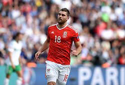 Sam Vokes of Wales  - Mandatory by-line: Joe Meredith/JMP - 25/06/2016 - FOOTBALL - Parc des Princes - Paris, France - Wales v Northern Ireland - UEFA European Championship Round of 16