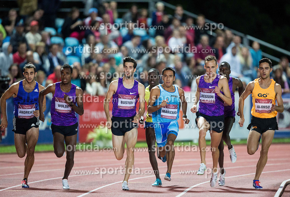 Athletes compete in 1500 Men during IAAF World Challenge Zagreb - The 65th Hanzekovic Memorial Meeting, on September 8, 2015, in Stadium Mladost, Zagreb, Croatia. Photo by Vid Ponikvar / Sportida