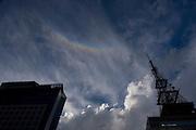 Sao Paulo_SP, Brasil...Silhueta de uma torre em Sao Paulo...a tower silhouette in Sao Paulo...Foto: MARCUS DESIMONI /  NITRO