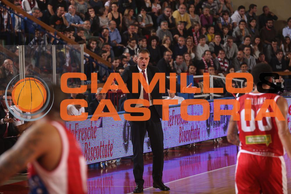 DESCRIZIONE : Reggio Emilia Lega A 2014-15 Grissin Bon Reggio Emilia Consultinvest Pesaro<br /> GIOCATORE : Sandro Dell'Agnello<br /> CATEGORIA : delusione<br /> SQUADRA : Consultinvest Pesaro<br /> EVENTO : Campionato Lega A 2014-2015<br /> GARA : Grissin Bon Reggio Emilia Consultinvest Pesaro<br /> DATA : 01/11/2014<br /> SPORT : Pallacanestro <br /> AUTORE : Agenzia Ciamillo-Castoria/E.Rossi<br /> Galleria : Lega Basket A 2014-2015 <br /> Fotonotizia : Reggio Emilia Lega A 2014-15 Grissin Bon Reggio Emilia Consultinvest Pesaro
