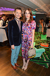 MATTHEW WILLIAMSON and LADY VIOLET MANNERS at the Duresta For Matthew Williamson Exclusive Launch At Harrods, Knightsbridge, London on 10th March 2016.