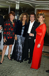 Left to right, writer KATHY LETTE, SUZANNE WYMAN, BILL WYMAN and HRH The COUNTESS OF WESSEX  at the Dyslexia Awards Dinner attended by HRH The Countess of Wessex held at The Dorchester Hotel, Park Lane, London on 9th November 2005.<br />