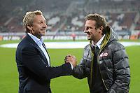 FUSSBALL   1. BUNDESLIGA  SAISON 2012/2013   9. Spieltag FC Augsburg - Hamburger SV           26.10.2012 Trainer Thorsten Fink (li, Hamburger SV) mit Trainer Markus Weinzierl (FC Augsburg)