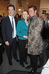 Left to right, GEORGE OSBORNE MP, FRANCES OSBORNE and CAMBRIDGE JONES at an exhibition of photographs commissioned by children's charity Barnardo's held at the Getty Images gallery, Eastcastle Street, London on 24th April 2008.<br />