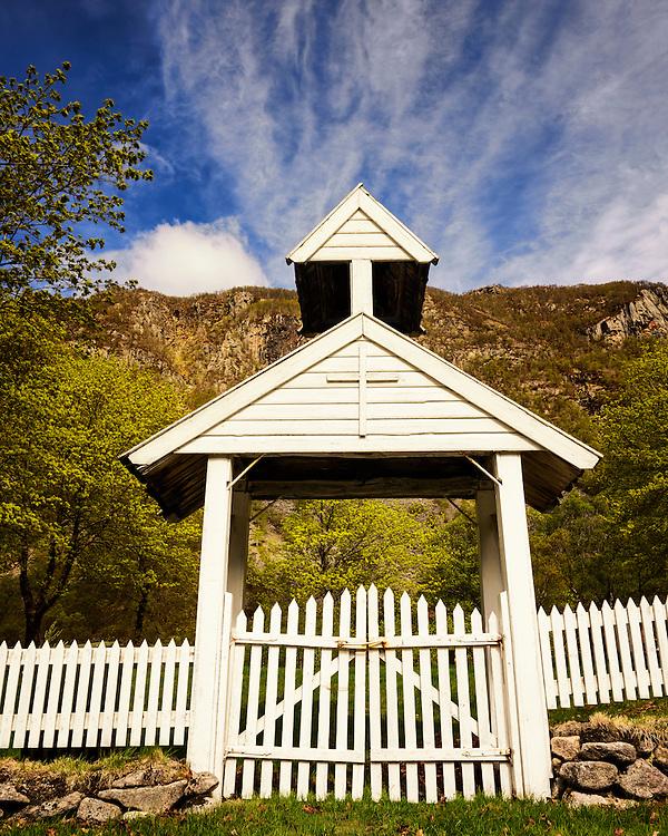 The gate to the old graveyard in Ørsdalen, Bjerkreim, Rogaland, Norway.