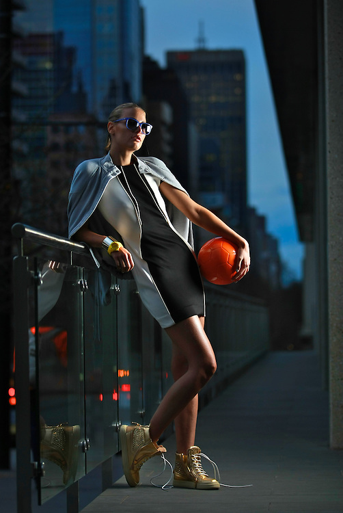 Viviens Model - ISKRA. Fashion Story about the growth in super-expensive sports gear, plus the influence it's having on street fashion in the run-up to Olympics. Pic By Craig Sillitoe CSZ / The Sunday Age.29/06/2012  Pic By Craig Sillitoe CSZ / The Sunday Age melbourne photographers, commercial photographers, industrial photographers, corporate photographer, architectural photographers, This photograph can be used for non commercial uses with attribution. Credit: Craig Sillitoe Photography / http://www.csillitoe.com<br />