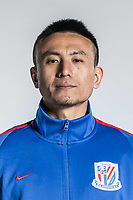 **EXCLUSIVE**Portrait of Chinese soccer player Mao Jianqing of Shanghai Greenland Shenhua F.C. for the 2018 Chinese Football Association Super League, in Shanghai, China, 2 February 2018.