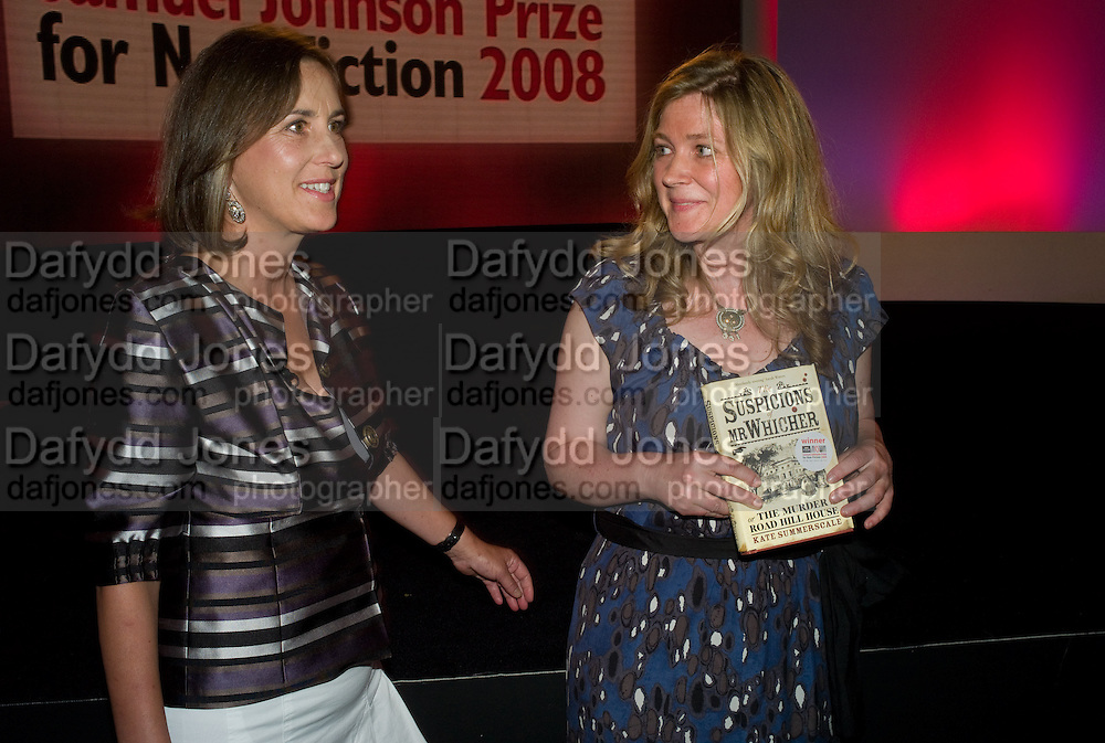 KATE SUMMERSCALE WINNER OF THE PRIZE; KIRSTY WARK<br />