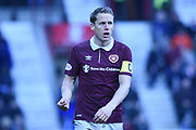 Man of the match Christophe Berra during the William Hill Scottish Cup 4th round match between Heart of Midlothian and Hibernian at Tynecastle Stadium, Gorgie, Scotland on 21 January 2018. Photo by Kevin Murray.