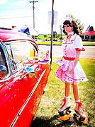 """Back to the '50s"" car show. (Sam Lucero photo)"