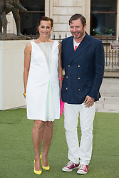 Image ©Licensed to i-Images Picture Agency. 04/06/2014. London, United Kingdom. Royal Academy Summer Exhibition Preview Party. Yasmin Le Bon and Simon Le Bon arrives to the Summer Exhibition Preview Party at the Royal Academy of Arts. Picture by Daniel Leal-Olivas / i-Images