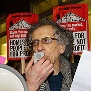 Speaker Piers Corbyn  is an English astrophysicist and is a brother of the Labour leader Jeremy Corbyn against Southwark Council Planning, social cleaning and fake social rent on 16th January 2018 outside Southwark Council, London, UK
