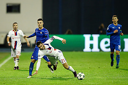 Amer Gojak of GNK Dinamo Zagreb vs Maxime Gonalons of Lyon during football match between GNK Dinamo Zagreb and Olympique Lyonnais in Group H of Group Stage of UEFA Champions League 2016/17, on November 22, 2016 in Stadium Maksimir, Zagreb, Croatia. Photo by Morgan Kristan / Sportida