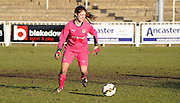 Claire Skinner in action during the FA Women's Cup match between Crystal Palace LFC and Reading Women at Bromley, England on 8 February 2015. Photo by Michael Hulf.
