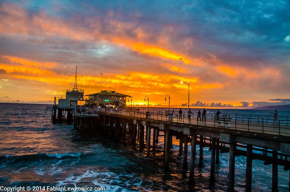 Santa Monica Pier, Thursday, November 20, 2014.