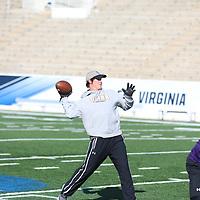 SALEM, VA - DECEMBER 13: during Stagg Bowl practice at Salem Stadium on December 14, 2017 in Salem,VA. (Photo by Steve Frommell, d3photography.com)