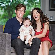 Sara Shahi, Steve Howie and son Wolf