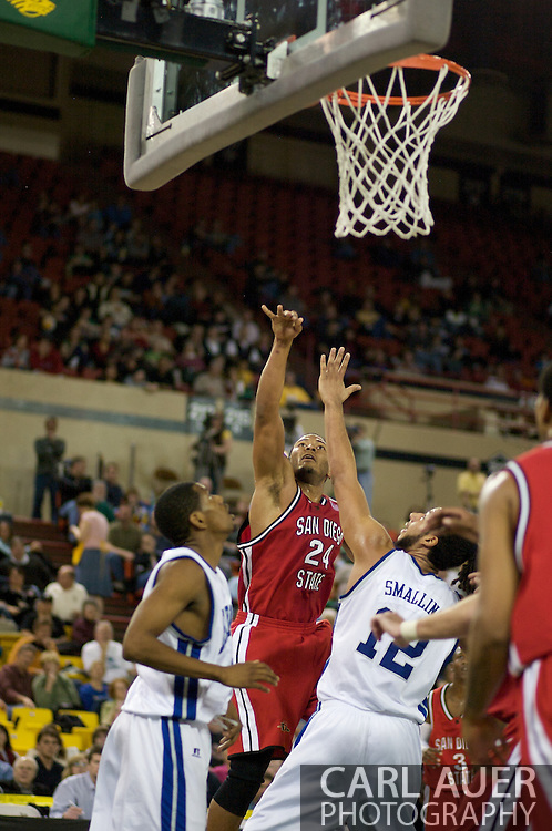 November 29, 2008: San Diego State's Tim Shelton (24) shoots over the Hampton defense in the championship game of the 2008 Great Alaska Shootout at the Sullivan Arena.  San Diego State would keep Hampton scoreless for most of the first 7 minutes of the game and never look back on the Aztec's run to the win Saturday night.
