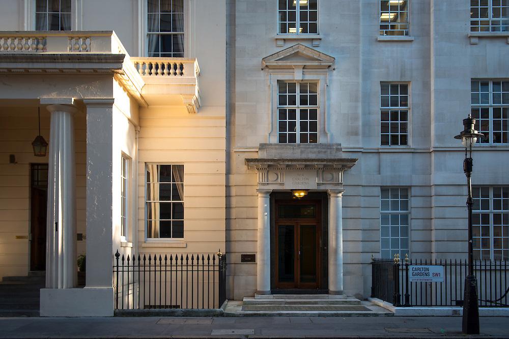 Edmond De Rothschild building, 4 Carlton Gardens in London, Britain.