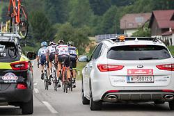 09.07.2019, Frohnleiten, AUT, Ö-Tour, Österreich Radrundfahrt, 3. Etappe, von Kirchschlag nach Frohnleiten (176,2 km), im Bild UCI Kommissär hinter der Spitzengruppe // UCI Kommissär hinter der Spitzengruppe during 3rd stage from Kirchschlag to Frohnleiten (176,2 km) of the 2019 Tour of Austria. Frohnleiten, Austria on 2019/07/09. EXPA Pictures © 2019, PhotoCredit: EXPA/ Johann Groder