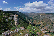Cevennes. landscape  Causse Mejean, and Tarn canyon    France