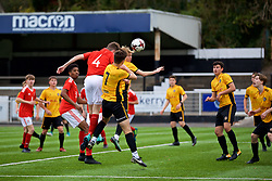 MERTHYR TYDFIL, WALES - Thursday, November 2, 2017: Wales' Guto Williams scores the second goal during an Under-18 Academy Representative Friendly match between Wales and Newport County at Penydarren Park. (Pic by David Rawcliffe/Propaganda)