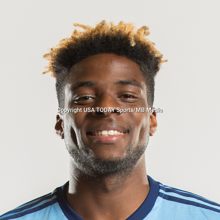 Feb 25, 2017; USA; New York City FC player Sean Okoli poses for a photo. Mandatory Credit: USA TODAY Sports