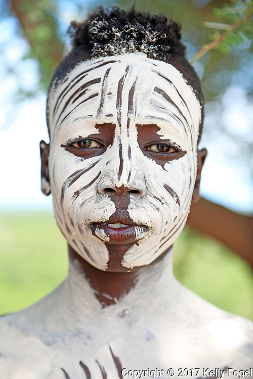 Karo (or Kara) Tribe, Omo Valley, Southern Ethiopia. Kortcho Village.