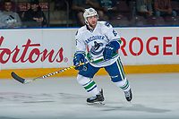 PENTICTON, CANADA - SEPTEMBER 8: Aaron Berisha #65 of Vancouver Canucks skates against the Winnipeg Jets on September 8, 2017 at the South Okanagan Event Centre in Penticton, British Columbia, Canada.  (Photo by Marissa Baecker/Shoot the Breeze)  *** Local Caption ***